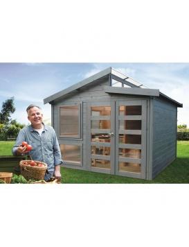 Abri de jardin Merano avec monsieur ayant cueilli de belles tomates