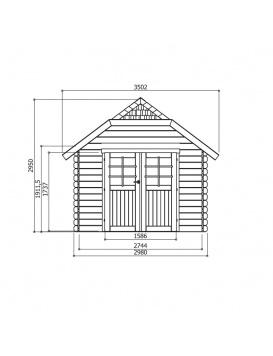 Plan dimensions Chester Garden Abri de jardin Limerick