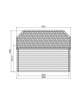 Plan dimensions latérales Limerick abri de jardin