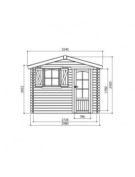 Abri de jardin Chamonix dimensions
