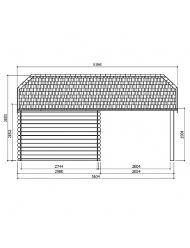 Abri de jardin Cork dimensions latérales