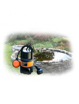 Un étang complètement vidangé grâce à la pompe pour eaux chargées